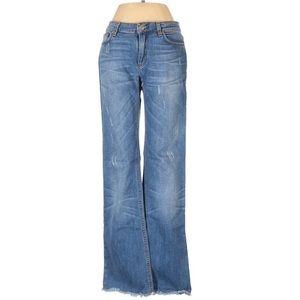 Roberto Cavalli Fringe Trim Straight Jeans - Italy